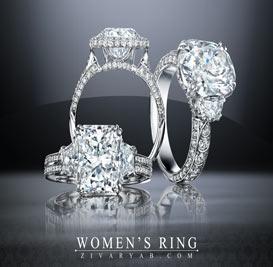 گالری طلا و جواهرات زیوریاب- جدیدترین حلقه های جواهر زنانه