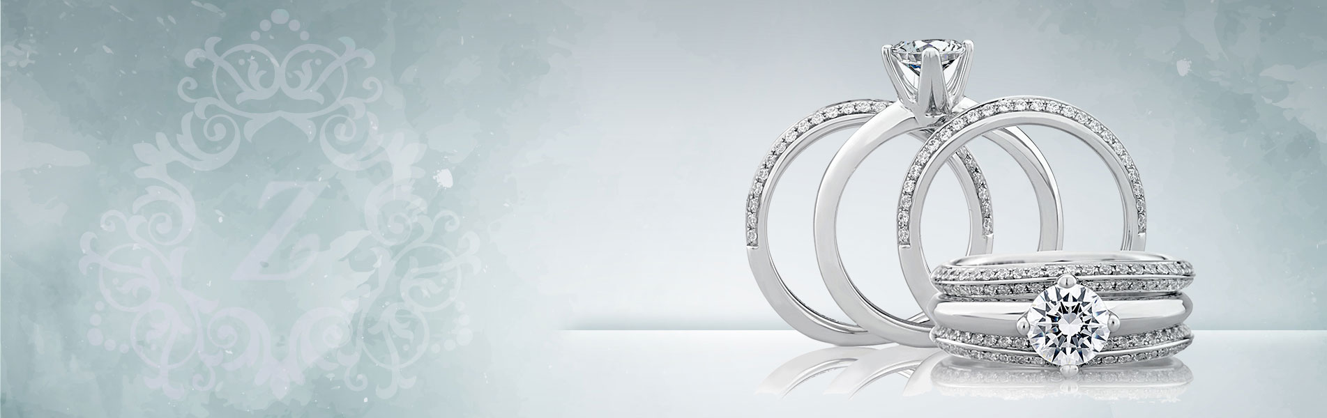 گالری طلا و جواهرات زیوریاب- جدیدترین حلقه های جواهر زنانه و حلقه های ست نامزدی و ازدواج