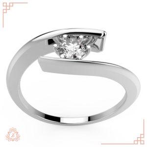 گالری طلا و جواهرات زیوریاب-حلقه نامزدی هابی-رنگ سفید