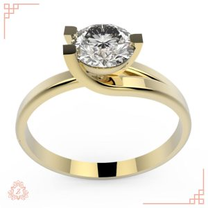 گالری طلا و جواهرات زیوریاب-حلقه نامزدی لیلو-رنگ زرد