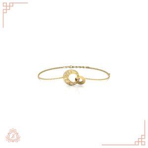 گالری طلا زیوریاب- دستبند طلا مدل الی