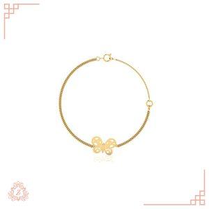 گالری طلا زیوریاب- دستبند پروانه طلا