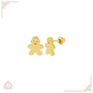 گالری طلا زیوریاب-طلای کودک-گوشواره مدل آدمک