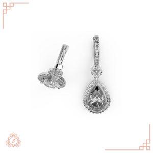 گالری طلا و جواهرات زیوریاب-گوشواره کوشی-طلا سفید