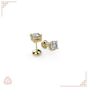 گالری طلا و جواهرات زیوریاب-گوشواره لیشا-طلا زرد