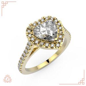 گالری طلا و جواهرات زیوریاب-حلقه نامزدی ملیا-طلا زرد