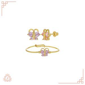 گالری طلا زیوریاب-طلای کودک-گوشواره و دستبند