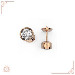 گالری طلا و جواهرات زیوریاب-گوشواره پانیا-رزگلد