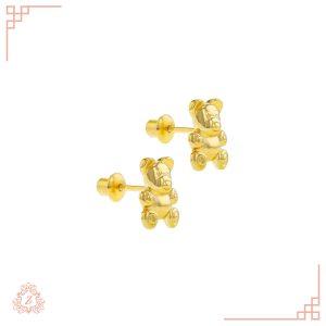 گالری طلا زیوریاب-طلای کودک-گوشواره مدل خرس