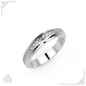 گالری طلا و جواهرات زیوریاب-حلقه ازدواج ژس-رنگ سفید
