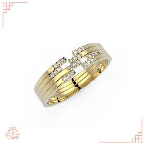 گالری طلا و جواهرات زیوریاب-حلقه ست ازدواج لین-طلا زرد