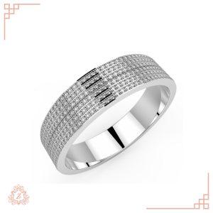 گالری طلا و جواهرات زیوریاب-حلقه ازدواج مایا -طلا سفید