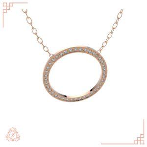 گالری طلا و جواهرات زیوریاب-گردنبند جواهر آنجل-رنگ رزگلد