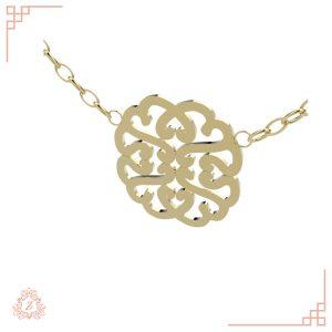 گالری طلا و جواهرات زیوریاب-گردنبند طلای دومر-رنگ زرد