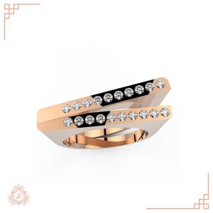 گالری طلا و جواهرات زیوریاب-حلقه ازدواج سنس -طلا رزگلد