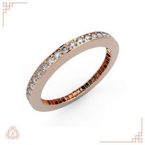 گالری طلا و جواهرات زیوریاب-حلقه ازدواج زنانه وانیا-رنگ رزگلد